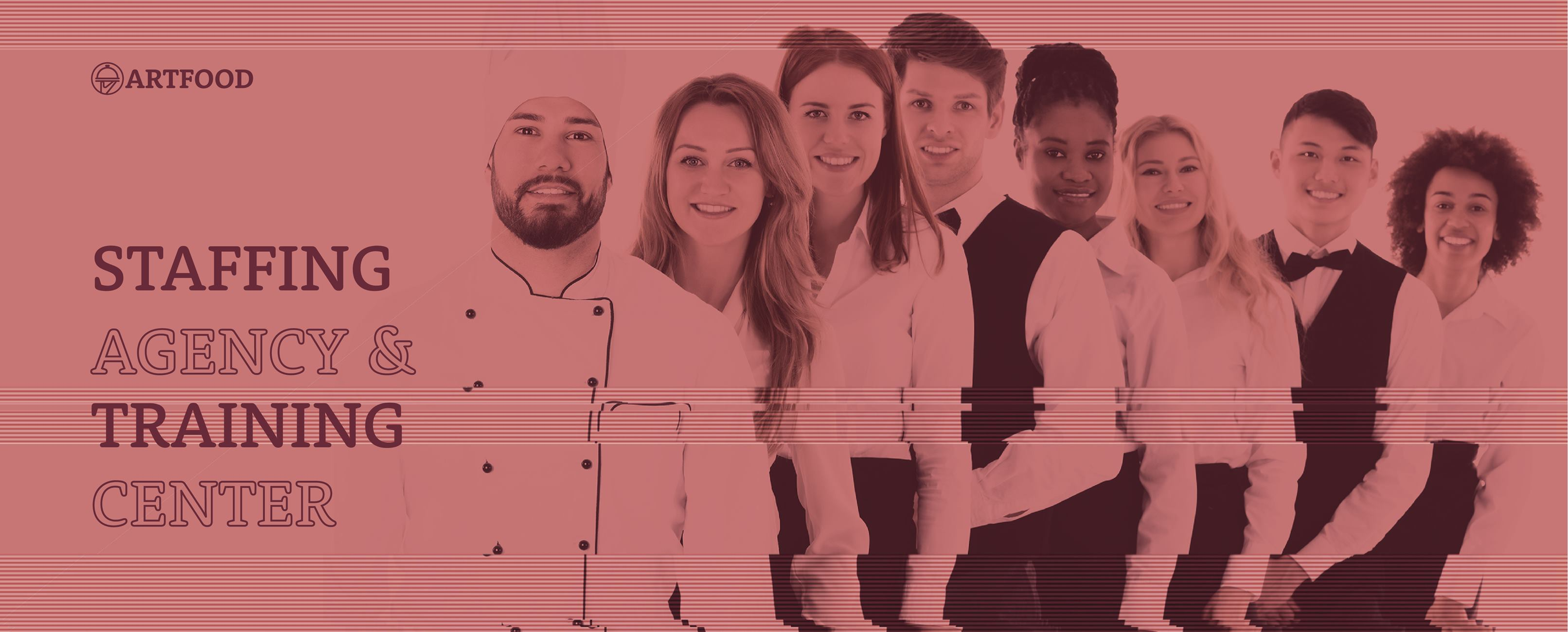 Artfood Staffing Logo with people in the background