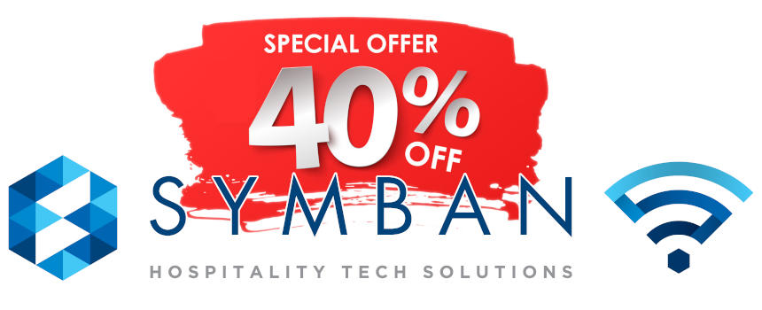 Symban Corporate and WiFi Logos Wide 860x350 on Transparent BG with 40 percent off stamp